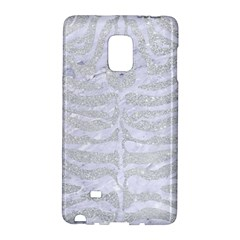 Skin2 White Marble & Silver Glitter Galaxy Note Edge by trendistuff