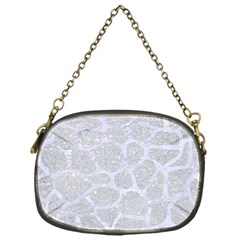Skin1 White Marble & Silver Glitter (r) Chain Purses (one Side)  by trendistuff