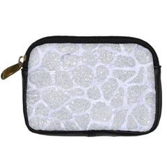 Skin1 White Marble & Silver Glitter (r) Digital Camera Cases by trendistuff