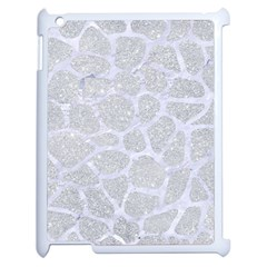 Skin1 White Marble & Silver Glitter (r) Apple Ipad 2 Case (white) by trendistuff