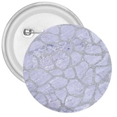 Skin1 White Marble & Silver Glitter 3  Buttons by trendistuff