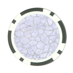 Skin1 White Marble & Silver Glitter Poker Chip Card Guard by trendistuff