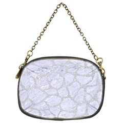 Skin1 White Marble & Silver Glitter Chain Purses (one Side)  by trendistuff