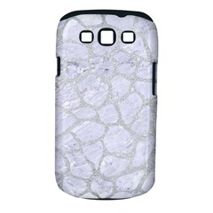 Skin1 White Marble & Silver Glitter Samsung Galaxy S Iii Classic Hardshell Case (pc+silicone) by trendistuff