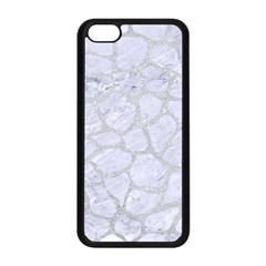 Skin1 White Marble & Silver Glitter Apple Iphone 5c Seamless Case (black) by trendistuff