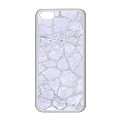 Skin1 White Marble & Silver Glitter Apple Iphone 5c Seamless Case (white) by trendistuff