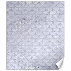 Scales3 White Marble & Silver Glitter (r) Canvas 20  X 24   by trendistuff