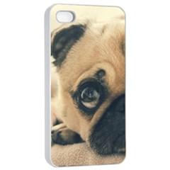 Pouty Pug Case Apple Iphone 4/4s Seamless Case (white) by cutentrendy