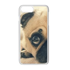 Pouty Pug Case Apple Iphone 8 Plus Seamless Case (white)