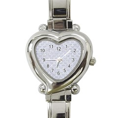 Scales3 White Marble & Silver Glitter Heart Italian Charm Watch by trendistuff