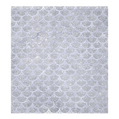 Scales3 White Marble & Silver Glitter Shower Curtain 66  X 72  (large)  by trendistuff