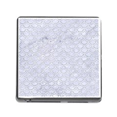 Scales2 White Marble & Silver Glitter (r) Memory Card Reader (square) by trendistuff