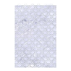 Scales2 White Marble & Silver Glitter (r) Shower Curtain 48  X 72  (small)  by trendistuff