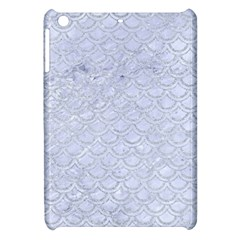 Scales2 White Marble & Silver Glitter (r) Apple Ipad Mini Hardshell Case by trendistuff