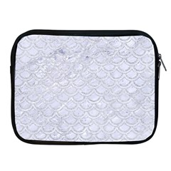 Scales2 White Marble & Silver Glitter (r) Apple Ipad 2/3/4 Zipper Cases by trendistuff