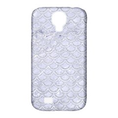 Scales2 White Marble & Silver Glitter (r) Samsung Galaxy S4 Classic Hardshell Case (pc+silicone)