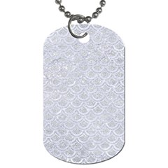 Scales2 White Marble & Silver Glitter Dog Tag (two Sides) by trendistuff