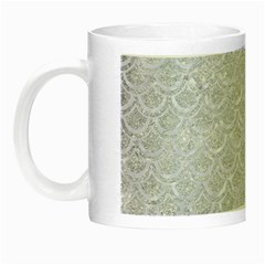 Scales2 White Marble & Silver Glitter Night Luminous Mugs by trendistuff