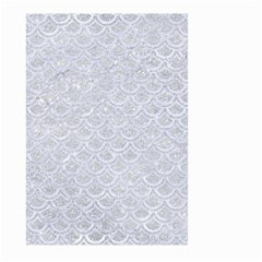 Scales2 White Marble & Silver Glitter Large Garden Flag (two Sides) by trendistuff