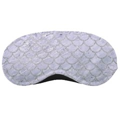 Scales1 White Marble & Silver Glitter (r) Sleeping Masks by trendistuff