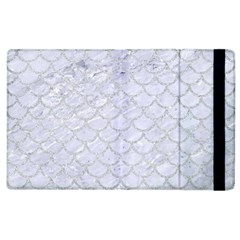 Scales1 White Marble & Silver Glitter (r) Apple Ipad 2 Flip Case by trendistuff