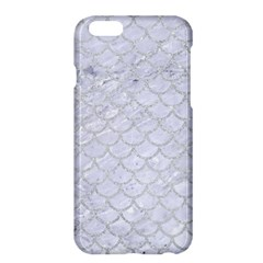 Scales1 White Marble & Silver Glitter (r) Apple Iphone 6 Plus/6s Plus Hardshell Case by trendistuff