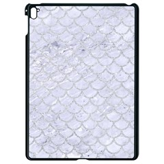 Scales1 White Marble & Silver Glitter (r) Apple Ipad Pro 9 7   Black Seamless Case by trendistuff
