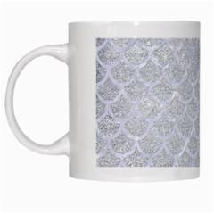 Scales1 White Marble & Silver Glitter White Mugs by trendistuff