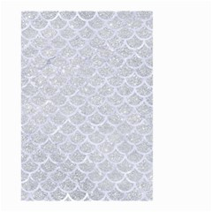 Scales1 White Marble & Silver Glitter Small Garden Flag (two Sides) by trendistuff