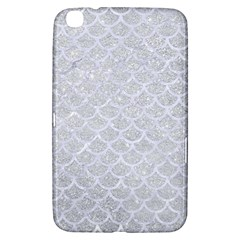 Scales1 White Marble & Silver Glitter Samsung Galaxy Tab 3 (8 ) T3100 Hardshell Case  by trendistuff