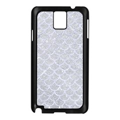 Scales1 White Marble & Silver Glitter Samsung Galaxy Note 3 N9005 Case (black) by trendistuff