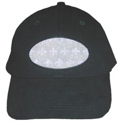 Royal1 White Marble & Silver Glitter (r) Black Cap by trendistuff