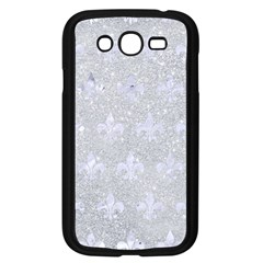 Royal1 White Marble & Silver Glitter (r) Samsung Galaxy Grand Duos I9082 Case (black) by trendistuff
