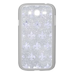 Royal1 White Marble & Silver Glitter (r) Samsung Galaxy Grand Duos I9082 Case (white) by trendistuff