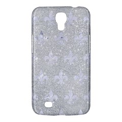 Royal1 White Marble & Silver Glitter (r) Samsung Galaxy Mega 6 3  I9200 Hardshell Case by trendistuff