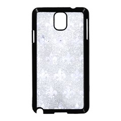 Royal1 White Marble & Silver Glitter (r) Samsung Galaxy Note 3 Neo Hardshell Case (black) by trendistuff