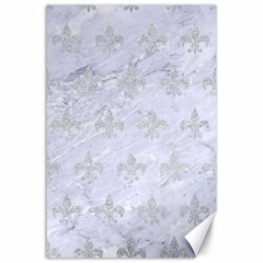 Royal1 White Marble & Silver Glitter Canvas 24  X 36