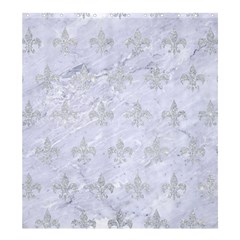 Royal1 White Marble & Silver Glitter Shower Curtain 66  X 72  (large)  by trendistuff