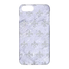 Royal1 White Marble & Silver Glitter Apple Iphone 8 Plus Hardshell Case by trendistuff
