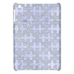Puzzle1 White Marble & Silver Glitter Apple Ipad Mini Hardshell Case by trendistuff