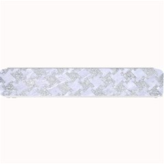 Houndstooth2 White Marble & Silver Glitter Small Bar Mats by trendistuff