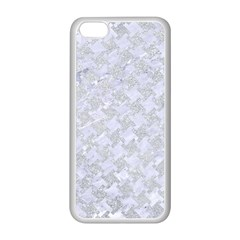 Houndstooth2 White Marble & Silver Glitter Apple Iphone 5c Seamless Case (white)