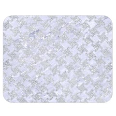 Houndstooth2 White Marble & Silver Glitter Double Sided Flano Blanket (medium)  by trendistuff