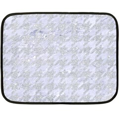 Houndstooth1 White Marble & Silver Glitter Double Sided Fleece Blanket (mini)  by trendistuff