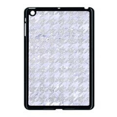 Houndstooth1 White Marble & Silver Glitter Apple Ipad Mini Case (black) by trendistuff