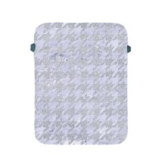 Houndstooth1 White Marble & Silver Glitter Apple Ipad 2/3/4 Protective Soft Cases by trendistuff