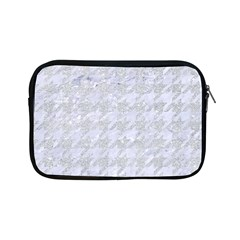 Houndstooth1 White Marble & Silver Glitter Apple Ipad Mini Zipper Cases by trendistuff
