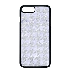 Houndstooth1 White Marble & Silver Glitter Apple Iphone 8 Plus Seamless Case (black) by trendistuff