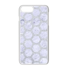 Hexagon2 White Marble & Silver Glitter (r) Apple Iphone 7 Plus Seamless Case (white) by trendistuff