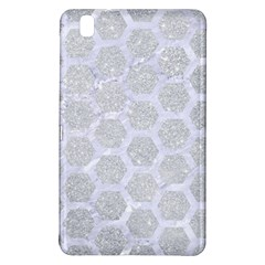 Hexagon2 White Marble & Silver Glitter Samsung Galaxy Tab Pro 8 4 Hardshell Case by trendistuff